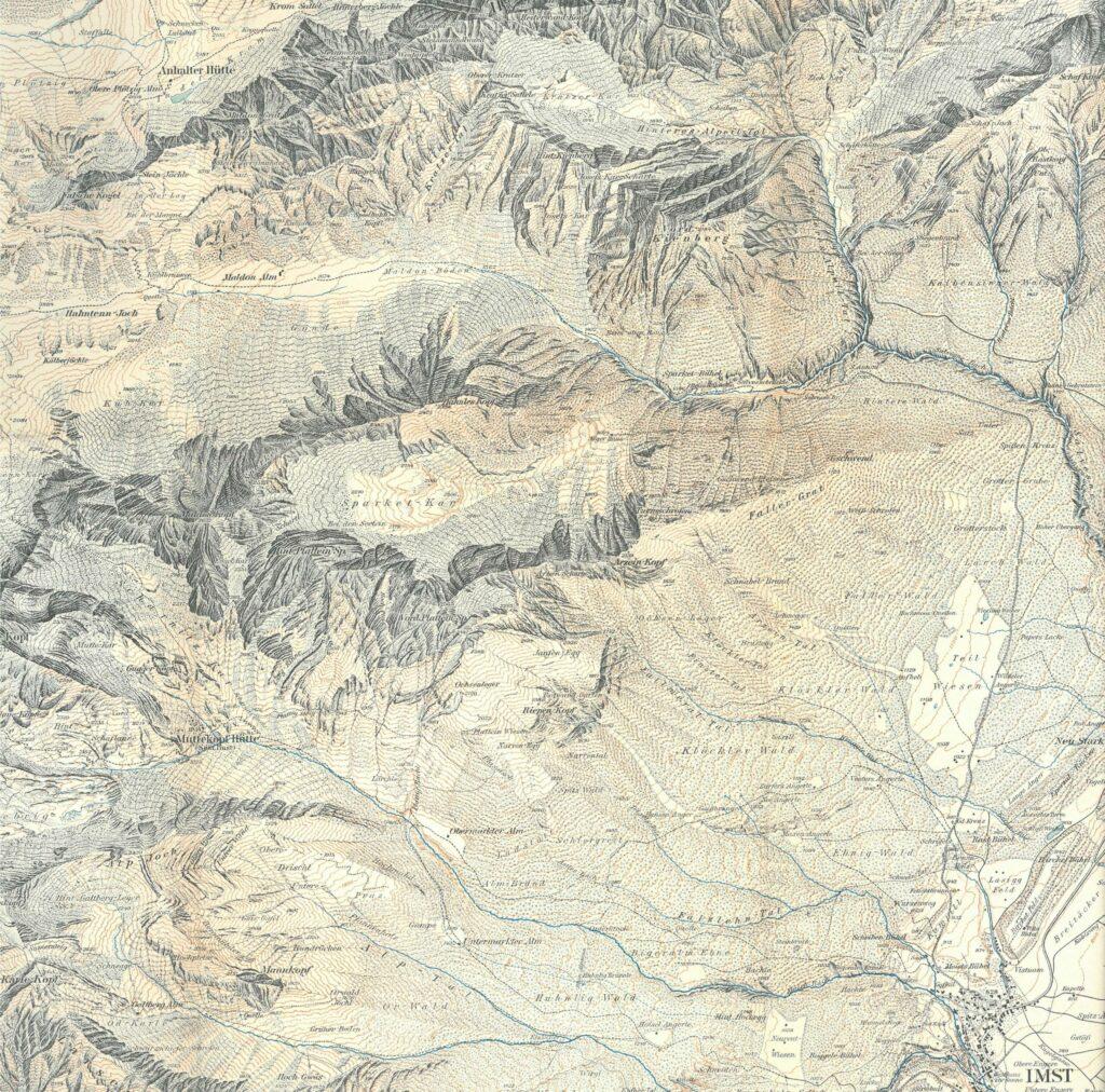 © Alpenvereinskarte, 1912, Detail