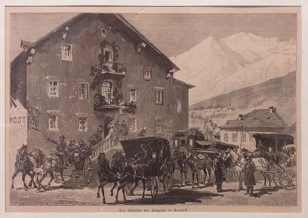 Abfahrt der Festgäste Post Landeck